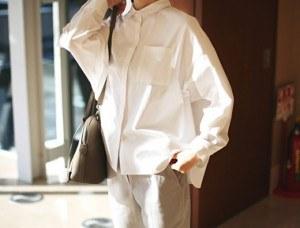 ログシャツ - ホワイト素材、縫製、ディテールグッド〜サンキュー週ドア幅週間