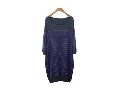 wv stripe long knit陰々たるストライプパタン