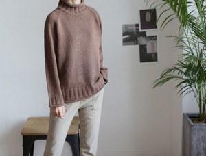 [当日出荷] vanessa turtle knit  -  3c適当て残念な多く支えられるスタイル