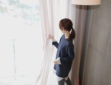 [当日出荷]シャツ配色long mtm  -  2c編ながらスタイルよ〜
