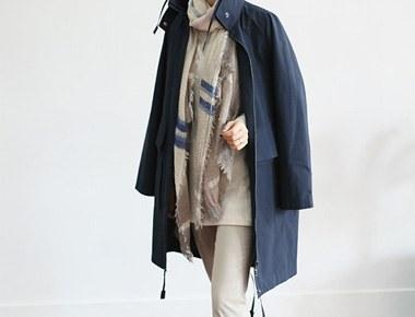 [当日出荷]ヴェネタ像コート - ネイビーディテールだ生かしたそれに比べて優しい価格^^洗練された高級ながら長く着デザインですよ^^