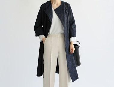 【当日出荷】ローズジャガードコート半なスタイリングは、基本的なジーンズにもよく似合います〜