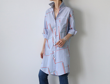 【当日出荷】Urbanロングシャツすっきり見せて素敵な〜