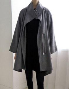 AZZEDINE A-line coat