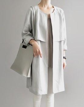 Hampton linen coat - sora (sky blue)