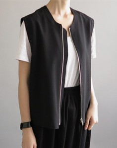 Owen zipper vest - 2 colors