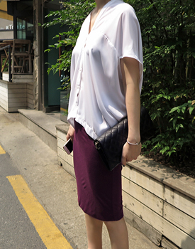 Double slim skirt