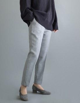 [当日出荷] basset wool pants  - ヨングレイ分厚いウール素材の内側に生地の回っていてタガプジない〜注文殺到