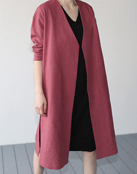 Adress linen long coat - 3c
