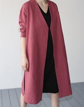 Adress linen long coat - 3c