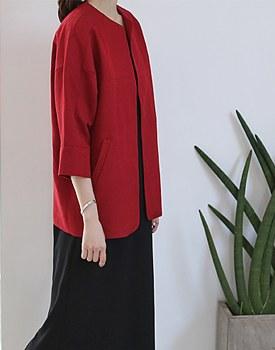 Linen stitch point jacket