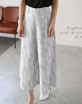 Leaf wide pants
