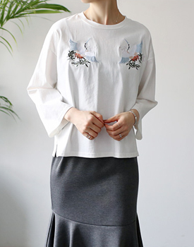 Serre embroidery tee - 3c