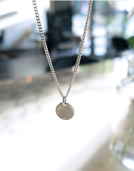 Circle Silver Necklace