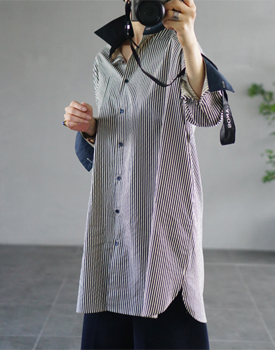 Lant two-tone long shirt