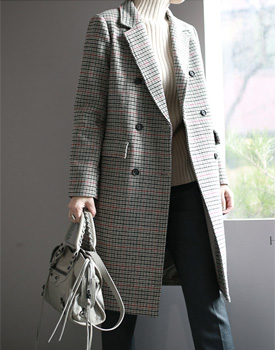 JESS check pattern coat - 2 colors