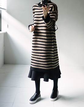 Zenner Stripe Knit Dress