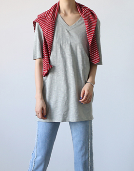 Pappy v-neck long tee - 3c