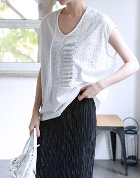 Match color lace blouse