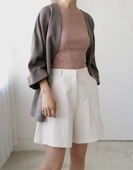 Alexander linen jacket - Dark Beige (Brown)