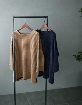 Velvet stripe T-shirt - 2 colors