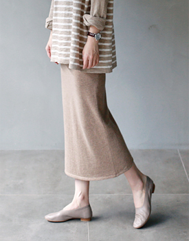 Carry knit long Skirt - 2c