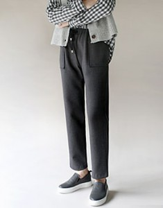 Draw string pocket pants -  2c