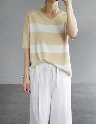 Glam stripe knit top - 2c