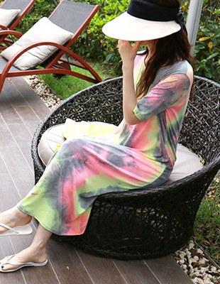 Tie-dve long dress - 2c