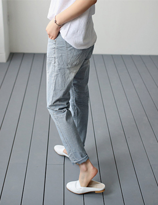 Low vintage cotton pant