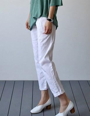 Mango linen slacks - 2c
