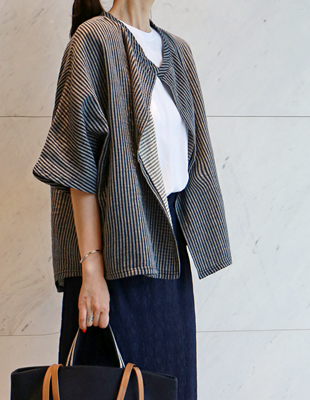 Double cardigan jacket