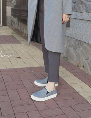 Felt Slip-on Shoes - 2c