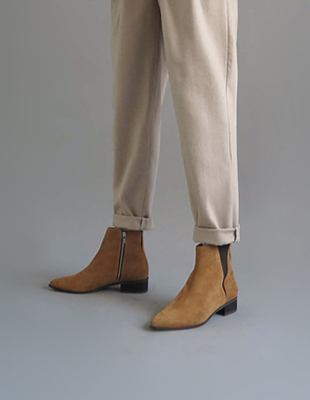 Isabel ankle boots - carmel (suede)