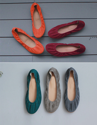 #Suede HER flat shoes