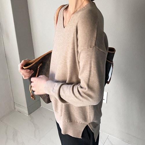 Shadow V neck Knit - 2c
