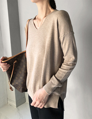 Shadow V neck Knit - 2c