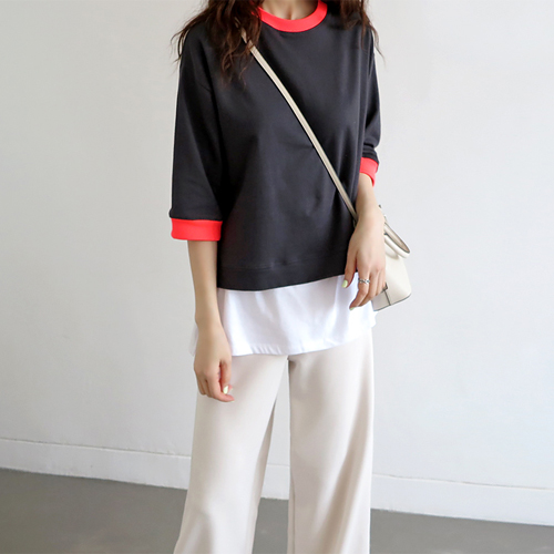 Neckline point tee - 3c