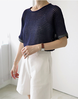 Cutch knit top - navy