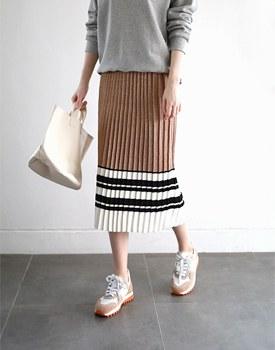Miu pleats knit skirt - 3c