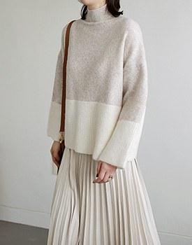 Moneta color knit top - 2c