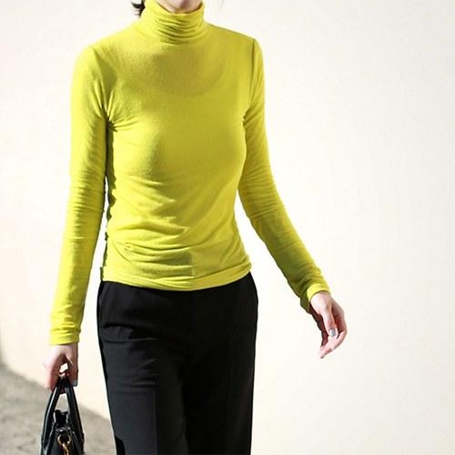Premium Wool Tencel Turtleneck - 3c
