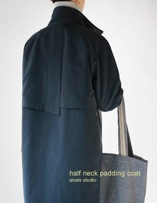 half neck padding coat