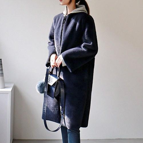 maj reversible fur coat - 2c