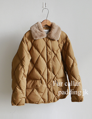 FUR collar padding jacket - 2c