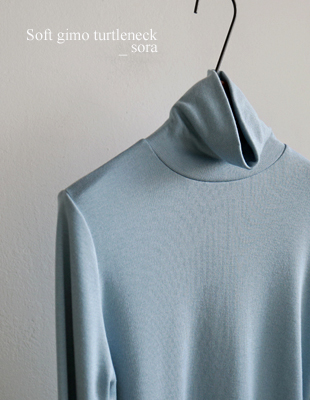 Soft brushed turtleneck - 3c