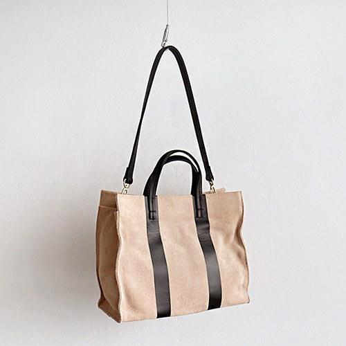 Suede line square bag - 2c