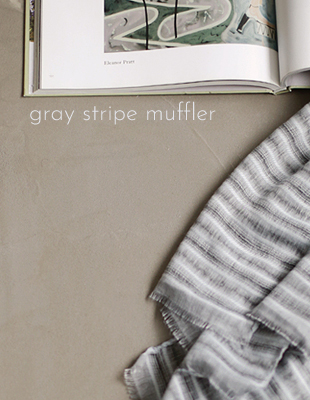 GREY stripe muffler
