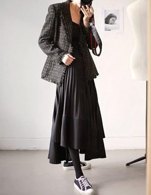 Wunde Pleats Skirt - 2c