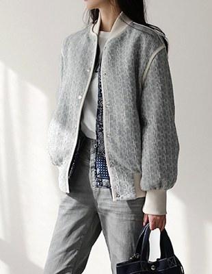 tweed blouson jk